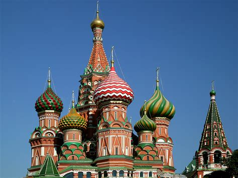 iconic architecture st basil s cathedral in moscow russia travel and tourism