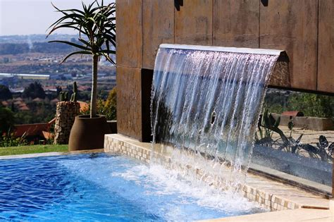 lawn garden luxury modern concrete backyard waterfall design and chsbahrain com