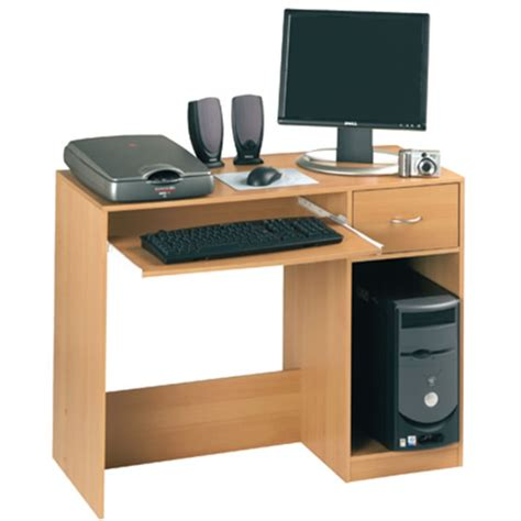 Beech Computer Desks Fusion Computer Desk Beech Officesupermarket Co Uk