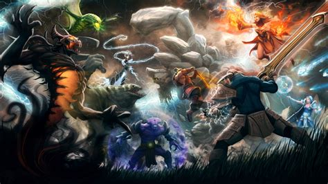 dota 2 wallpaper by kunkka dota2 5v5 mashup by kunkka on deviantart
