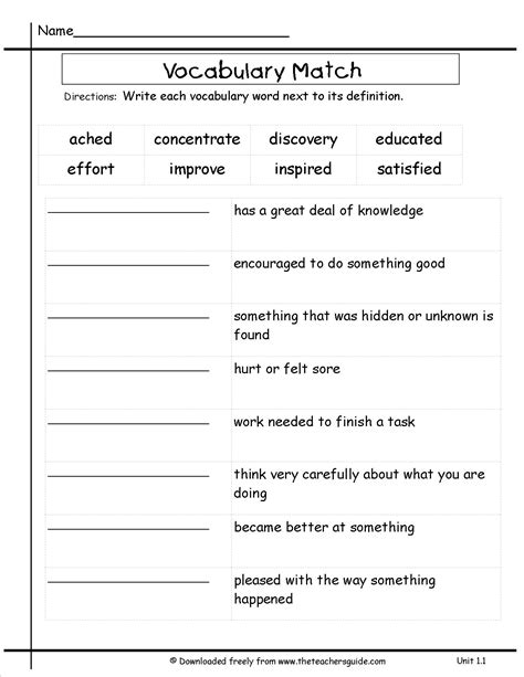 printable worksheets 3rd grade 3rd grade vocabulary worksheets worksheets releaseboard