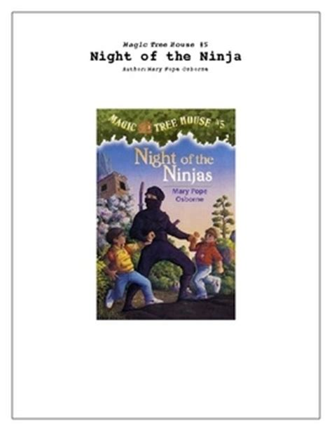 of the ninjas book report 67 best images about magic treehouse on magic