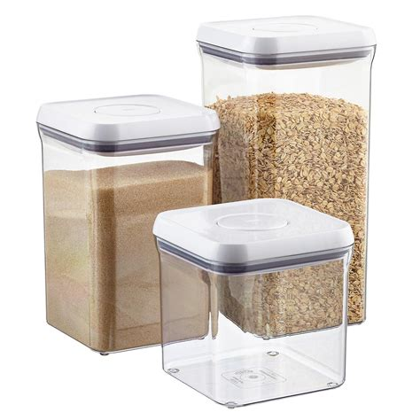oxo grips 6 quot square pop canisters the container store