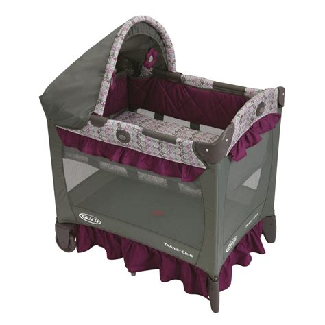 Portable Cribs For Travel by Graco Travel Lite Crib Nyssa Baby