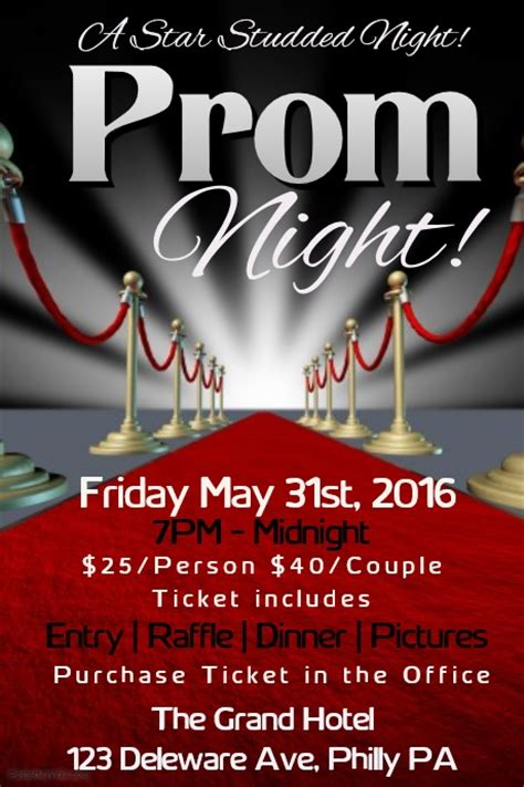 Prom Template Postermywall Homecoming Flyer Template