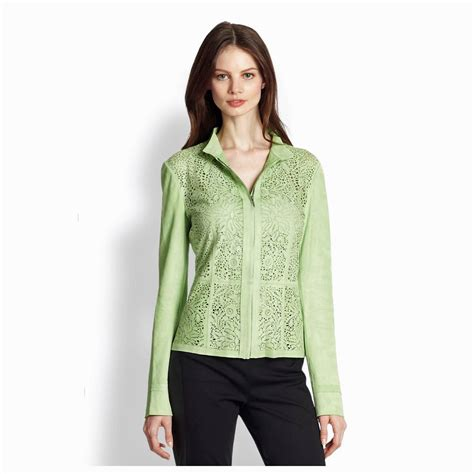 Batik Tabern Pria Oscar Lime Green elie tahari lime green laser cut perforated leather mallory jacket nwt 1 298 00