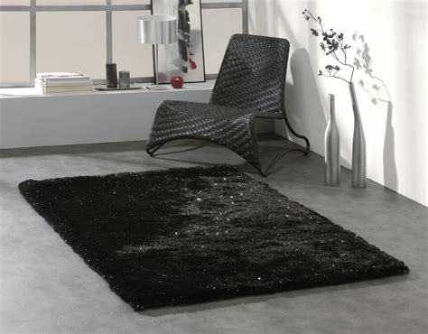 Tapis Noir Shaggy by Tapis Shaggy Brillant Noir Dominus