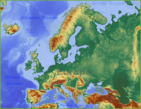 physical maps of europe physical map of europe