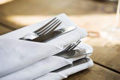 Folding Paper Napkins With Ribbon - how to fold cutlery into a napkin