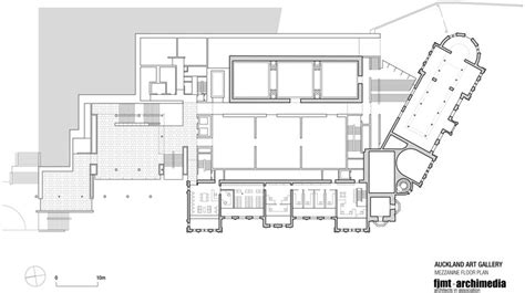yale gallery floor plan toi o t艨maki auckland gallery fjmt archimedia