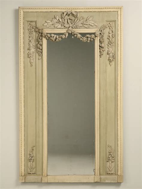 Antique French Original Painted Mirror Rose for Sale   Old