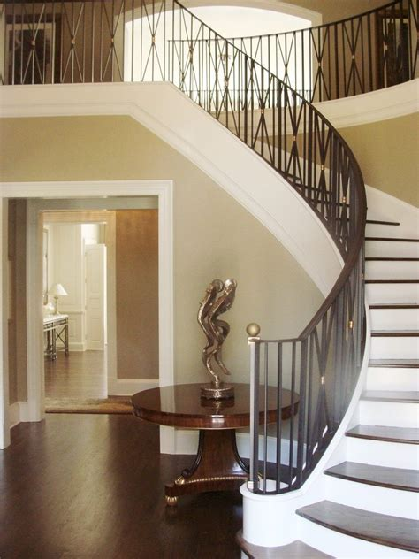 entryway  table  entry  spiral staircase