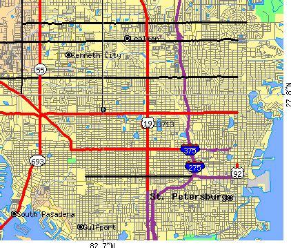 zip code map st petersburg fl zip code map of st petersburg fl zip code map