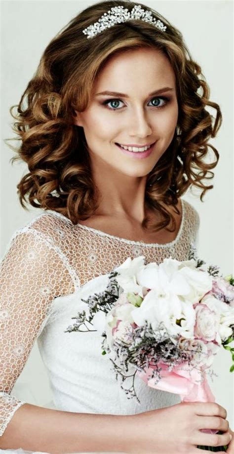Bridal Hairstyles For Hair With Tiara wedding hairstyle with tiara
