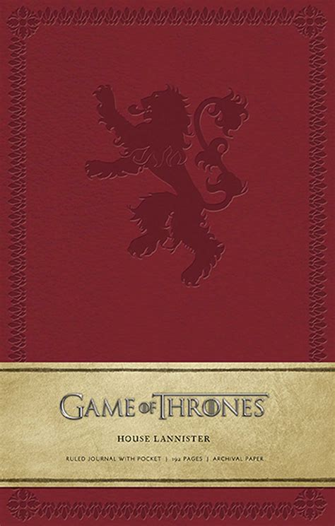 What Of Thrones House Am I by Of Thrones House Lannister Hardcover Ruled Journal