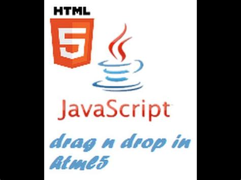 tutorial javascript drag and drop how to create drag and drop utility in html5 youtube