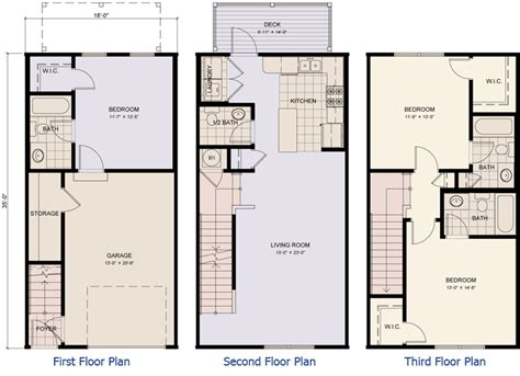 3 story townhouse floor plans quotes three story townhouse floor plans 22 best simple three