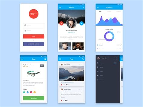 material design ui maker material design mobile ui kit epicpxls