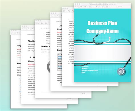health care business plan template health care business plan template images