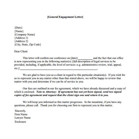 Engagement Letter Sle Engagement Letter 9 Free Documents In Pdf Word