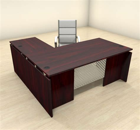 Modern L Shaped Office Desk 3pc Modern L Shaped Contemporary Executive Office Desk Set Sp Act L3 Ebay