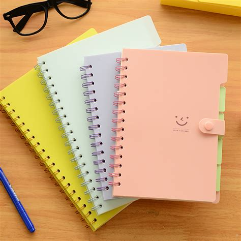 Small Note Book korea stationery slammed the coil notebook a5 3pcs box