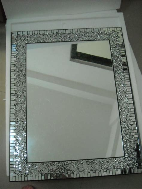 mosaic bathroom mirrors mosaic mirror for home decoration bathroom by laiwu yixin arts crafts co ltd