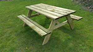 bench picnic table heavy duty 38mm thick rectangle picnic table