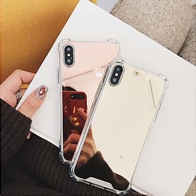 for apple iphone x iphone 8 plus iphone 8 shockproof mirror back cover solid colored