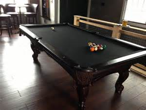custom black felt pool table farm flat pinterest