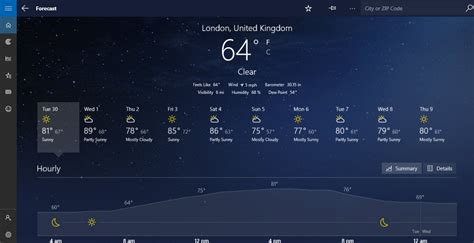 temperature theme download for pc msn weather app updated to new version with dark theme support