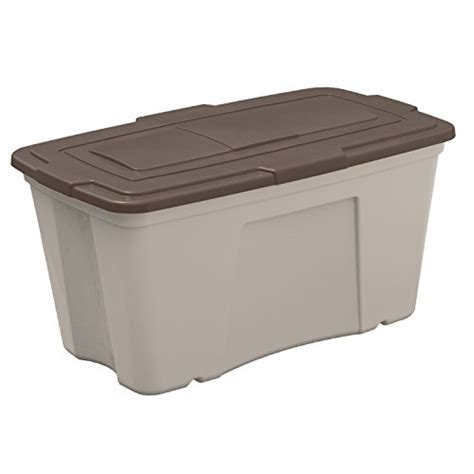 patio storage bin suncast b501824 outdoor storage bin 50 gallon 3 pack home patio and furniture