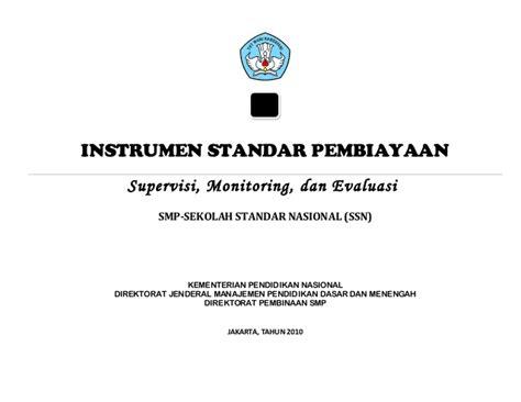 Standar Pembiayaan Pendidikan Nanang Fatah 7 instrumen standar pembiayaan