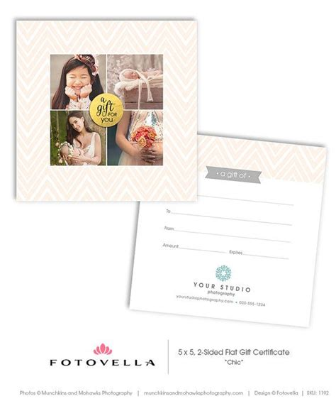 Gift Cards Photoshop Template by 17 Best Images About Photography Marketing Templates On