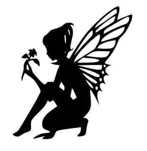 8 12 flower fairy silhouette die cut embellishment crafts