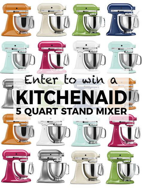 Kitchenaid Mixer Giveaway 2017 - new years kitchenaid stand mixer giveaway eat yourself skinny