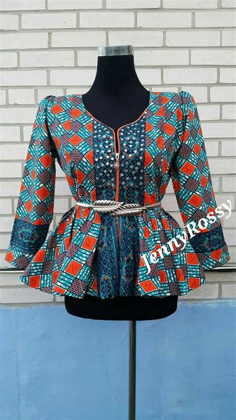 design jacket blouse jenny rossy african print peplum top african blouse with