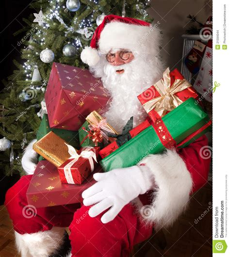 santa with presents stock photo image of seasonal