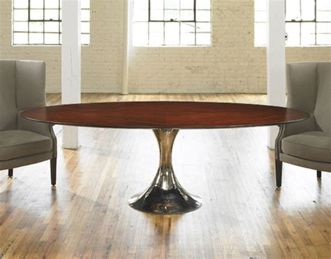 julian chichester dakota wood oval table traditional