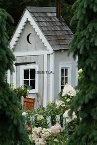 5x7 Garden Shed Small Shed In The Garden 5x7 Photo Greeting Card