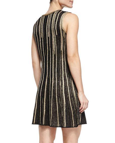 Sleeveless Vertical Stripe Dress Import m missoni sleeveless metallic vertical stripe dress