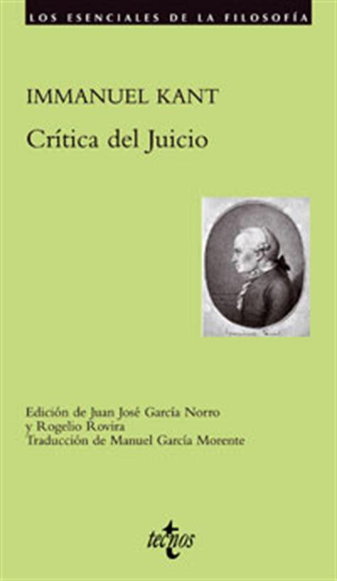 libro critica del juicio cr 237 tica del juicio dialnet