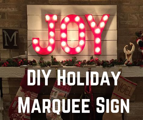 holiday diy marquee signs