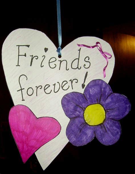 friends forever valentine kids glitter