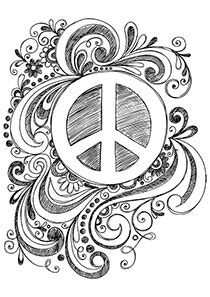 sign into doodle simple and attractive free printable peace sign coloring pages