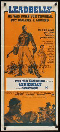 leadbelly biography movie 3y732 leadbelly aust daybill 76 blues singer huddie