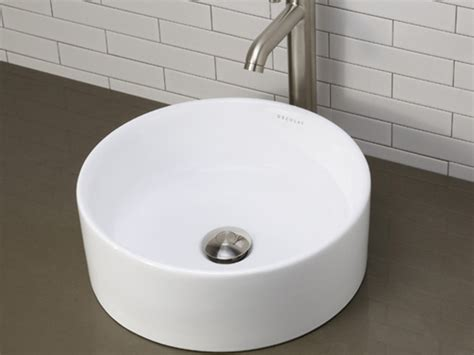 deep bathroom sinks decolav round deep vitreous china vessel sink ceramic