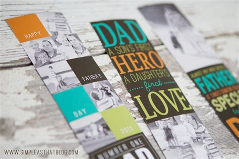 handmade father s day gift photo bookmarks