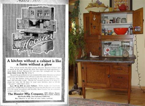 kitchen cabinet advertisement a place for everything the hoosier cabinet arts and