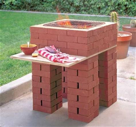 diy backyard grill backyard brick barbeques dig this design